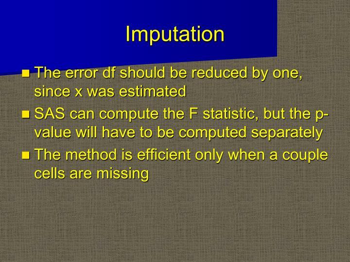 Imputation