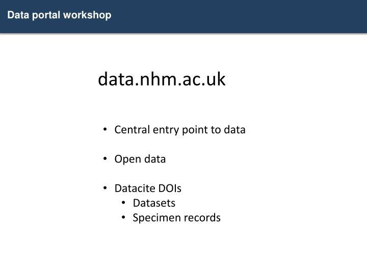 Data portal workshop