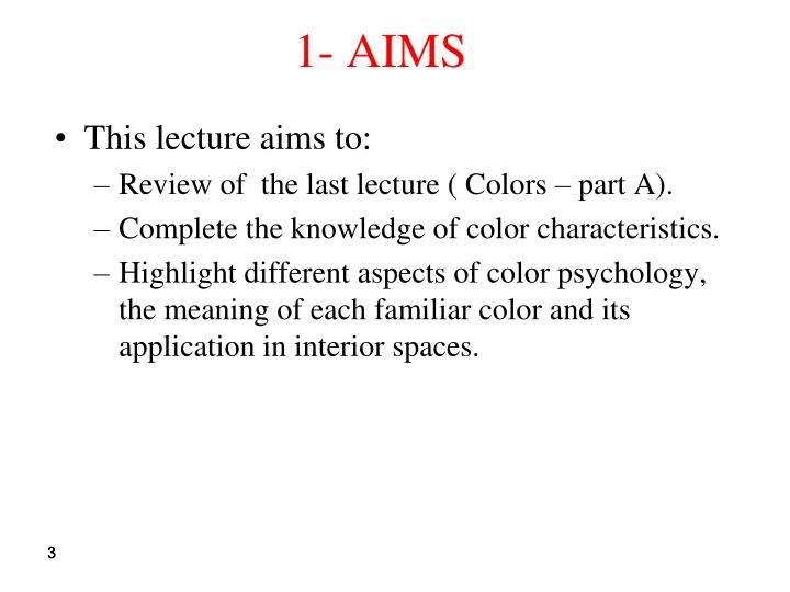 1- AIMS
