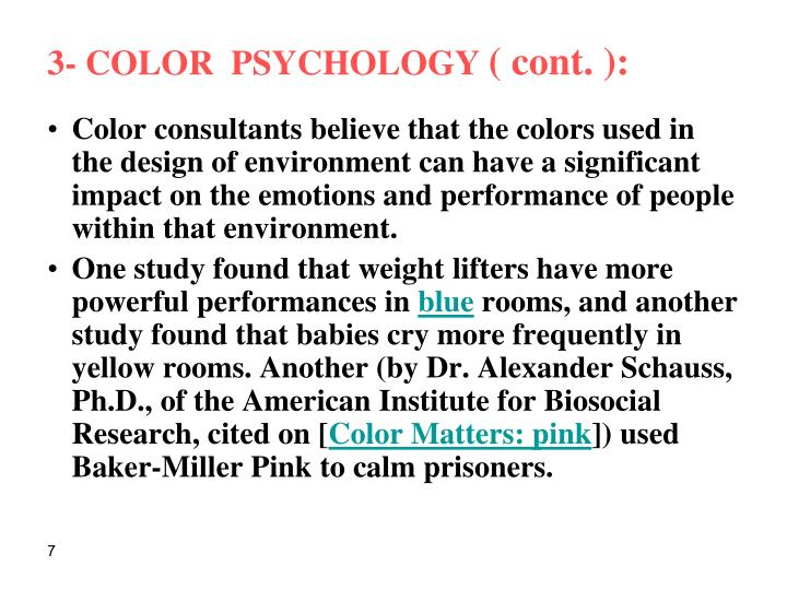 3- COLOR  PSYCHOLOGY