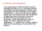 3 color psychology
