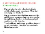 4 meaning and use of colors e green cont