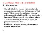 4 meaning and use of colors f white cont