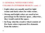 5 general notes for using colors in interior design cont2