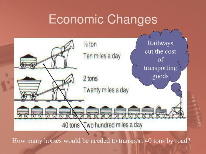 Railways cut the cost of transporting goods