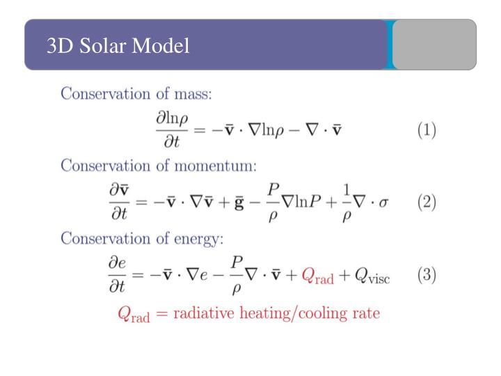 3D Solar Model
