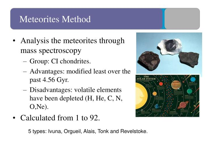 Meteorites Method