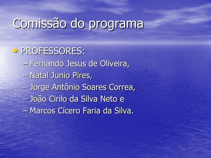 Comissão do programa
