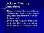 locke on identity conditions