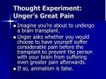 thought experiment unger s great pain