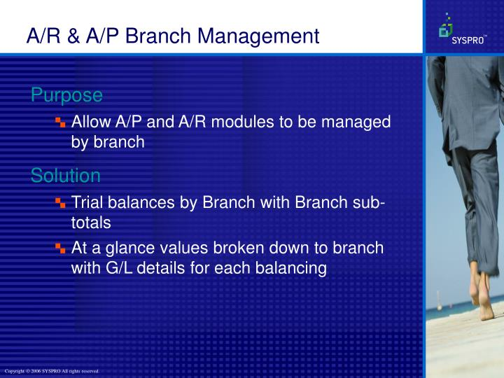 A/R & A/P Branch Management