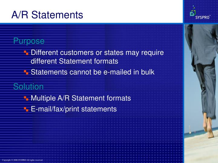 A/R Statements