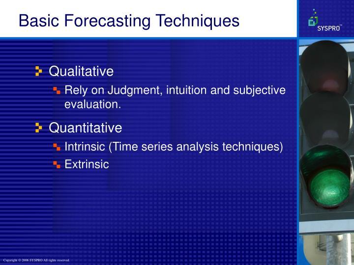 Basic Forecasting Techniques