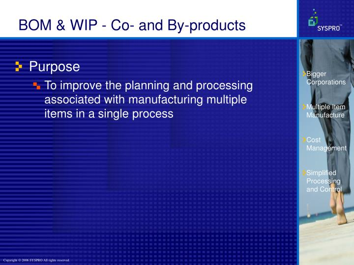 BOM & WIP - Co- and By-products