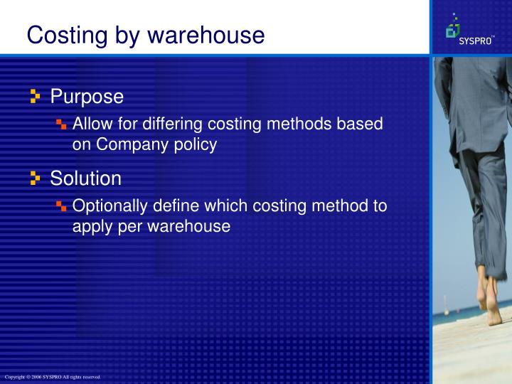 Costing by warehouse