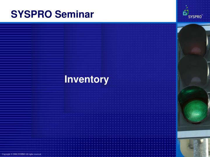 SYSPRO Seminar