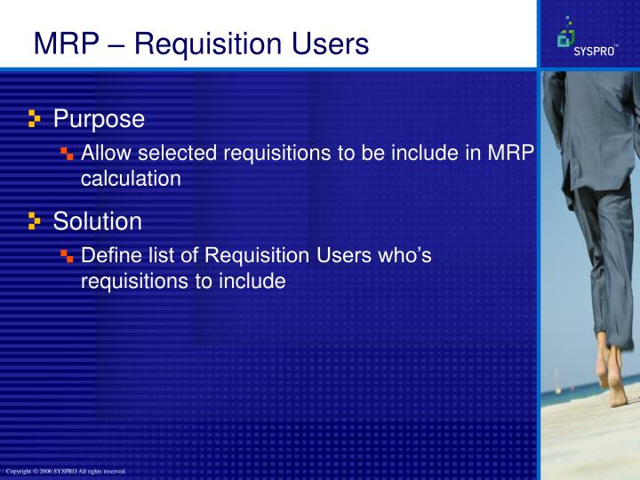 MRP – Requisition Users