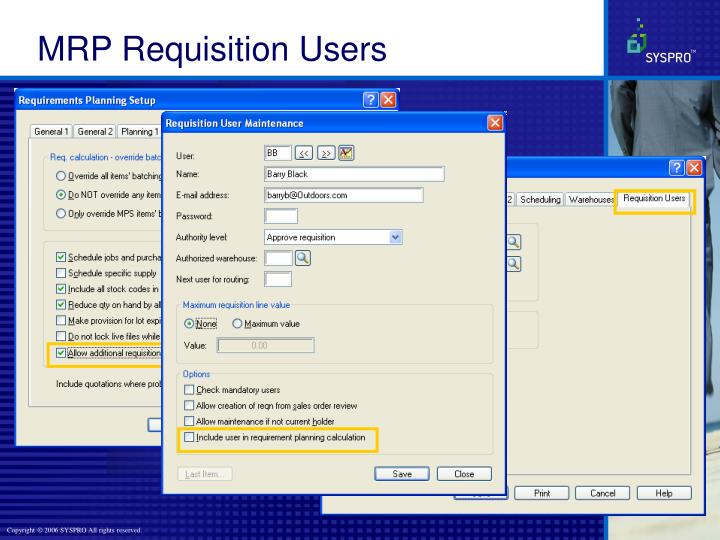 MRP Requisition Users
