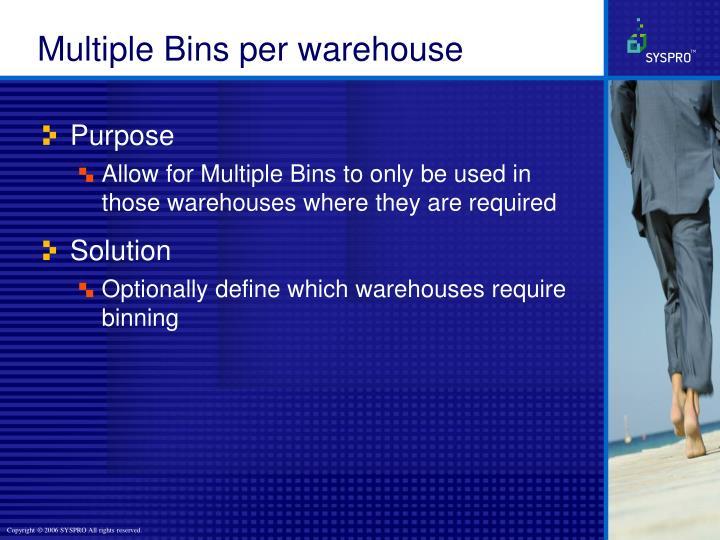 Multiple Bins per warehouse