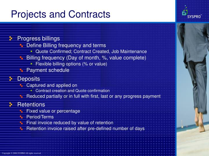 Projects and Contracts