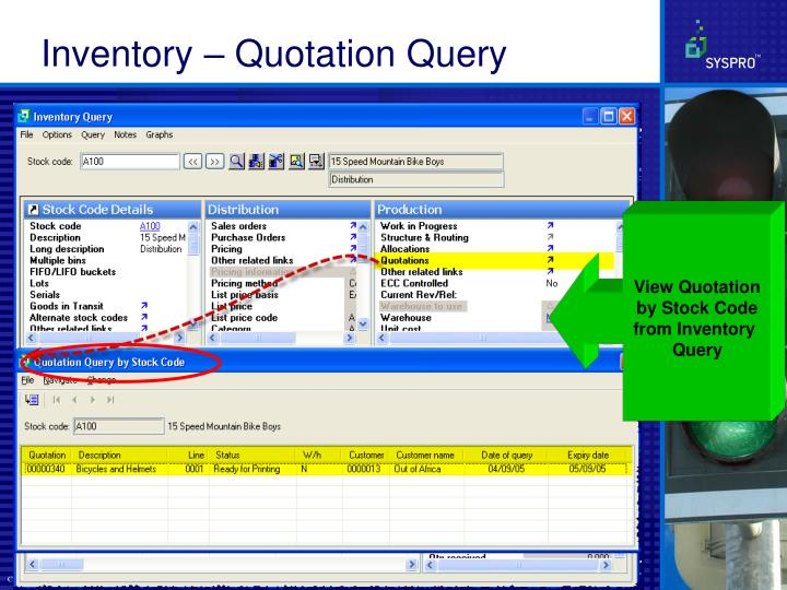 Inventory – Quotation Query