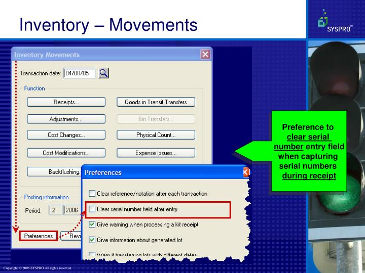 Inventory – Movements