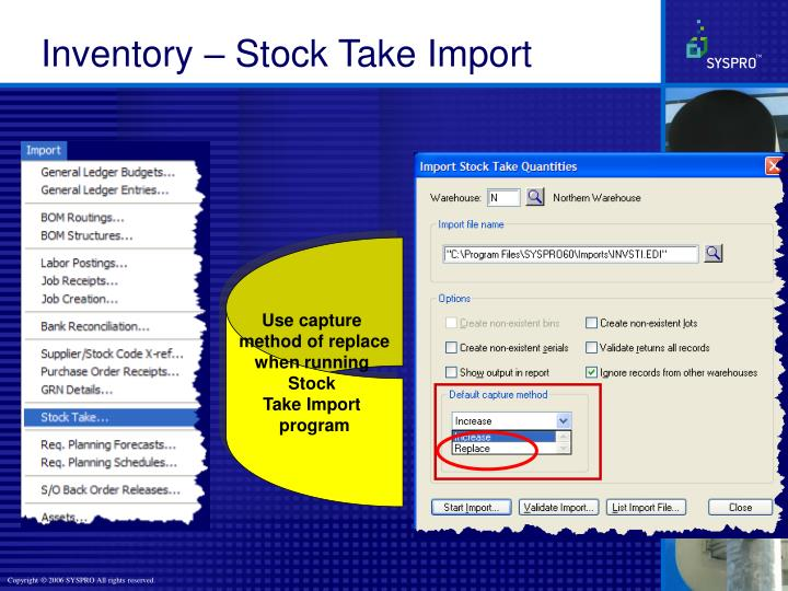 Inventory – Stock Take Import