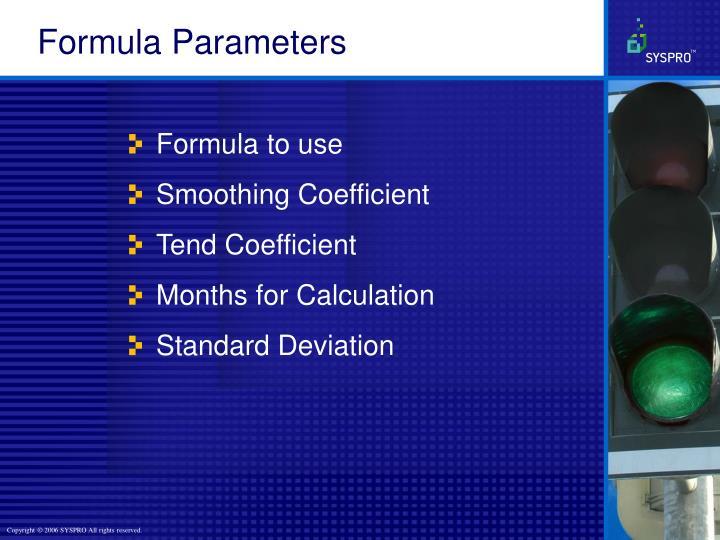 Formula Parameters