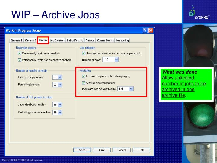 WIP – Archive Jobs