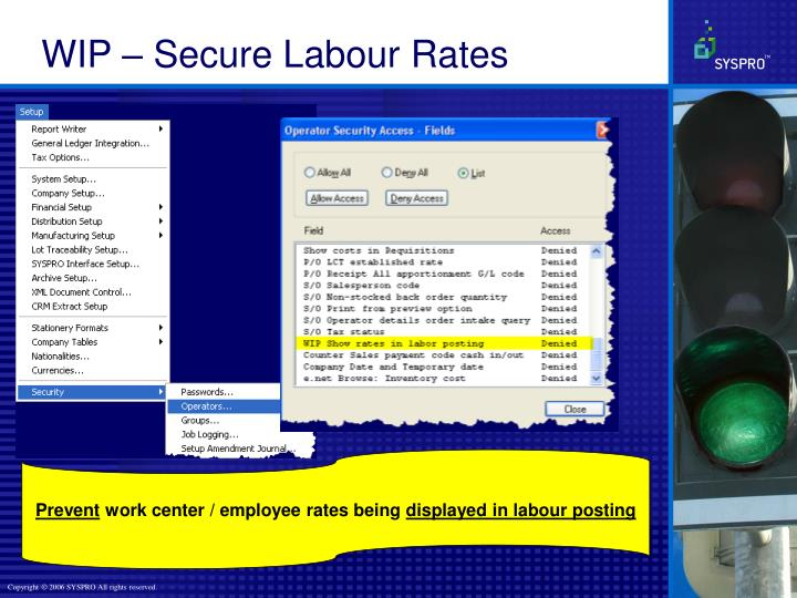 WIP – Secure Labour Rates