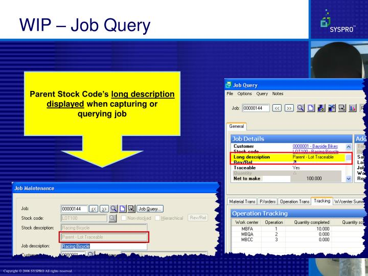 WIP – Job Query