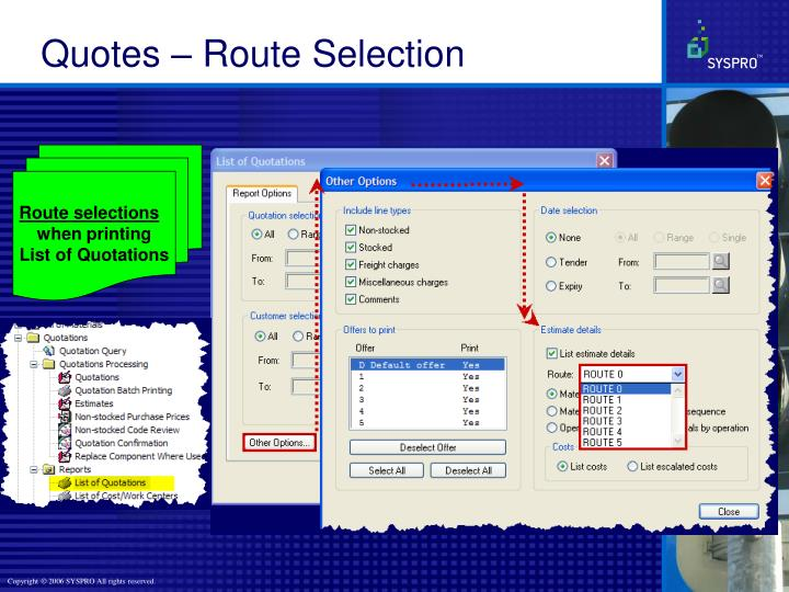 Quotes – Route Selection