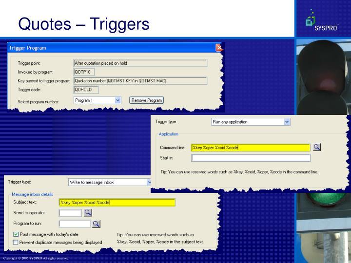 Quotes – Triggers