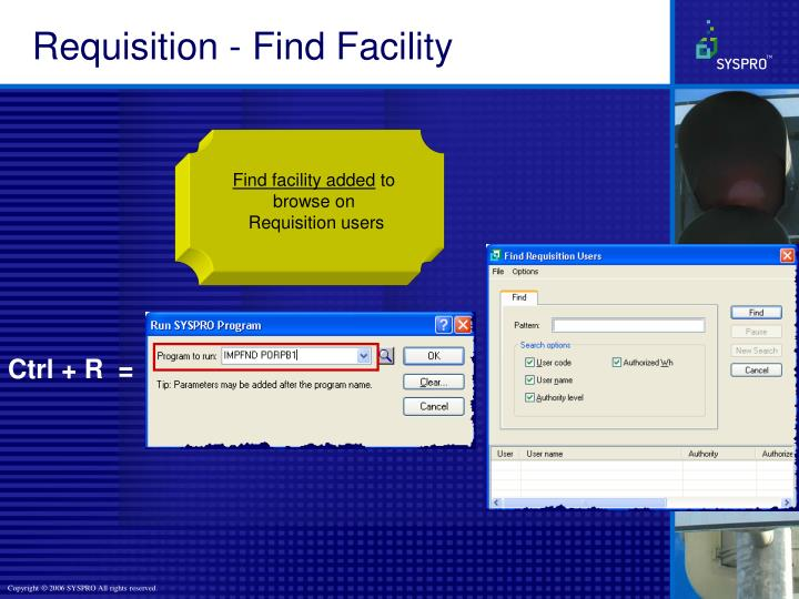 Requisition - Find Facility