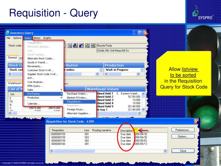 Requisition - Query