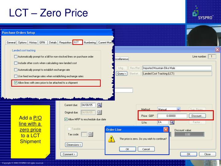 LCT – Zero Price