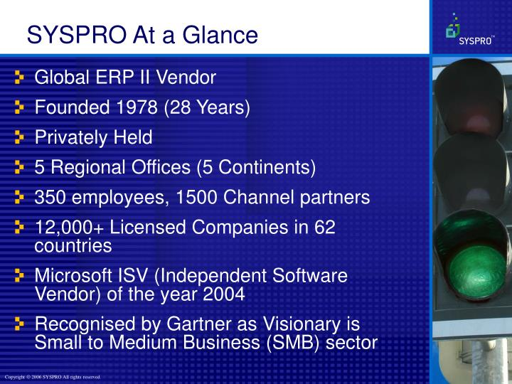 SYSPRO At a Glance