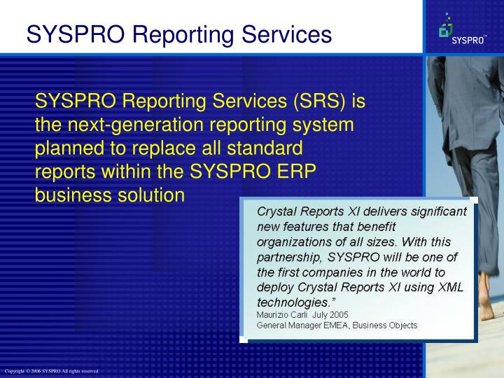 SYSPRO Reporting Services