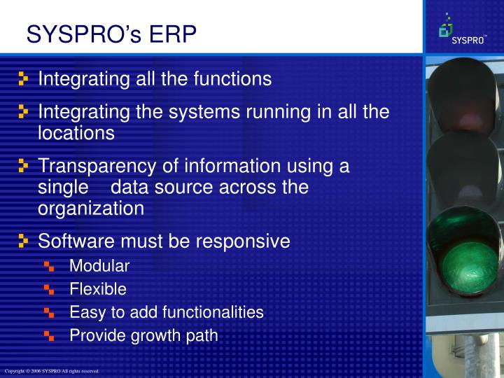 SYSPRO's ERP