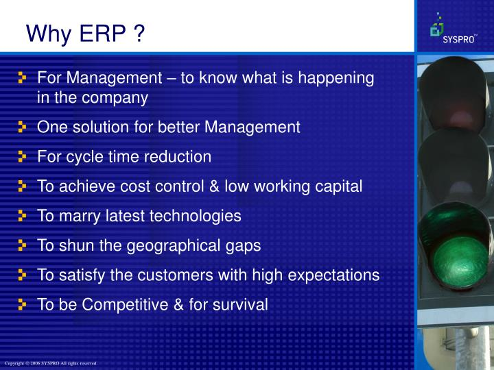 Why ERP ?