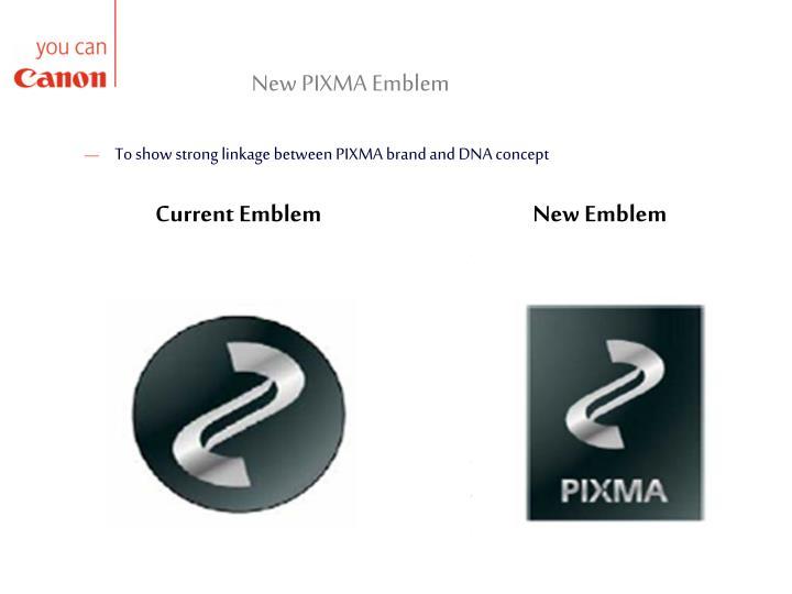 New PIXMA Emblem