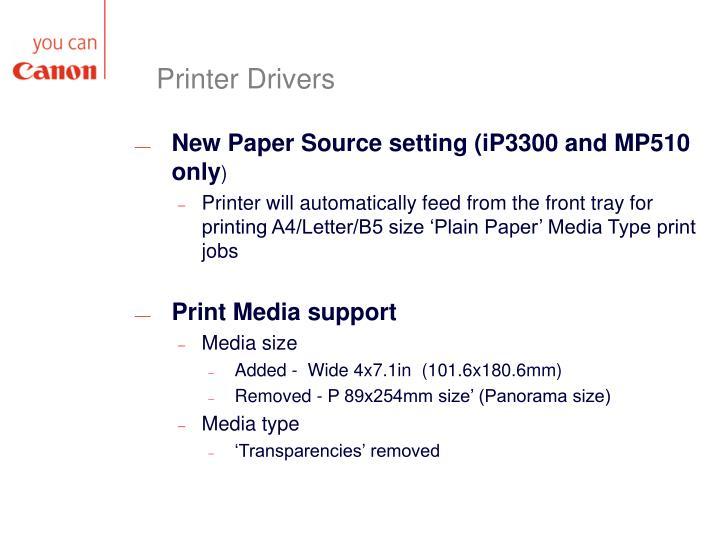 Printer Drivers