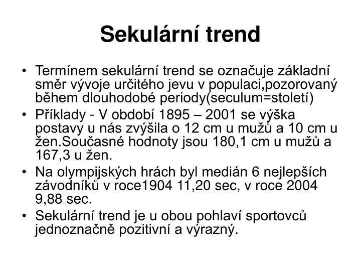 Sekulární trend