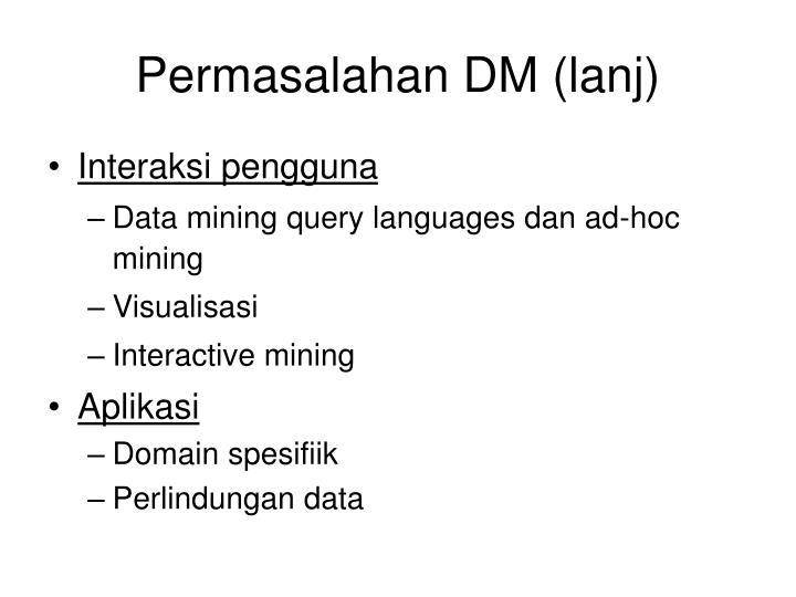 Permasalahan DM (lanj)