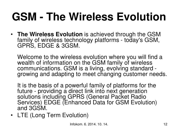 GSM - The Wireless Evolution