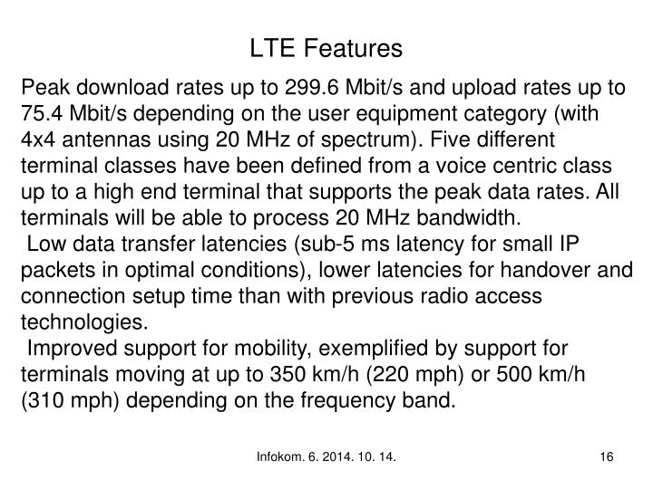 LTE Features