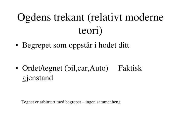 Ogdens trekant (relativt moderne teori)