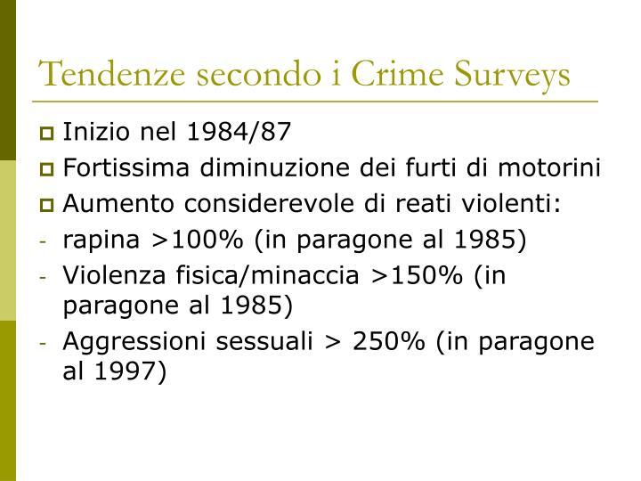 Tendenze secondo i Crime
