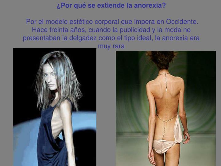 ¿Por qué se extiende la anorexia?