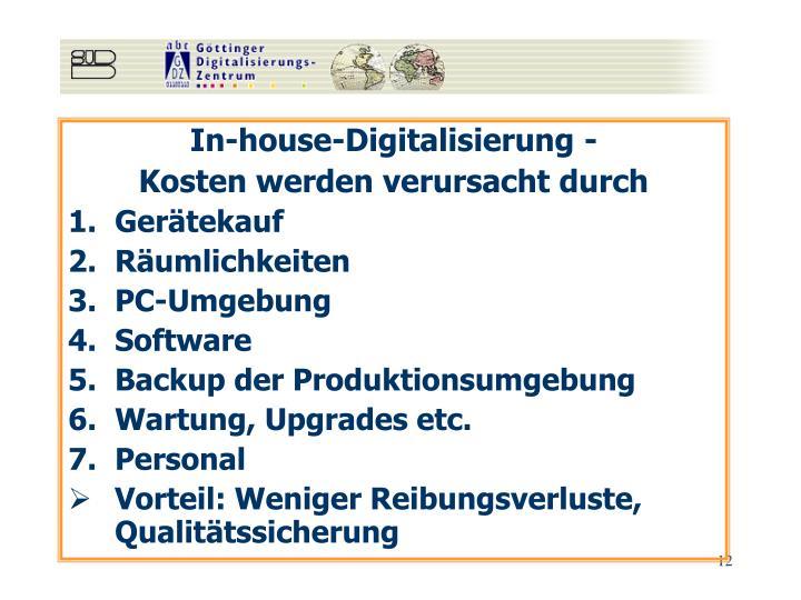 In-house-Digitalisierung -